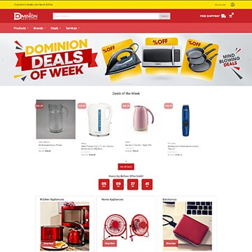 Website Design - Dominion Appliances and Gift Shop