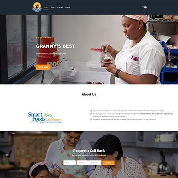 Website Design - Grannys Best - Smart Foods Caribbean