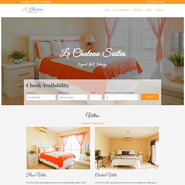 Le Chateau Tobago - Hotel Booking Website Design